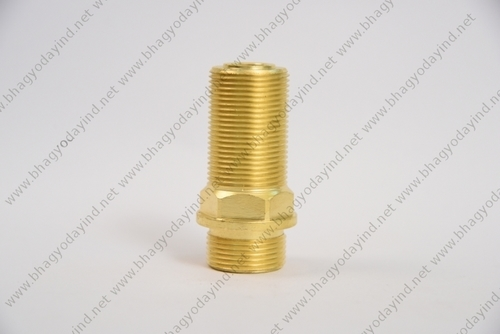 Brass Hex Lock Nut and Threaded Nipple