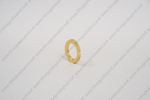 Brass Lock Nut Slotted Round Washer