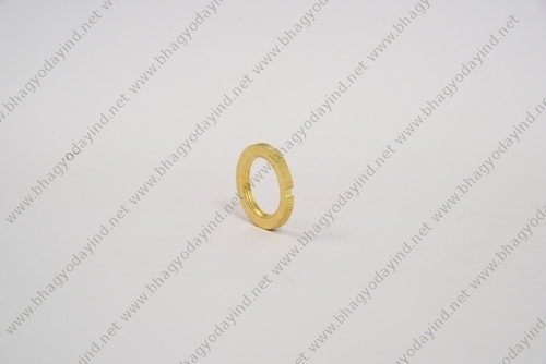 Brass Lock Nut Slotted Round Washer