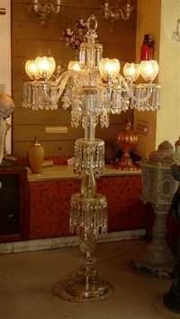 Glass Pedestal Lamp
