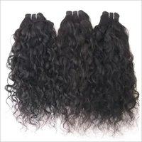 Curly hair,