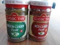 绿色咖喱酱和红色咖喱酱