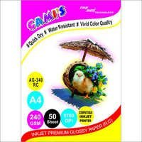 Gami's 240gsm RC Inkjet Photo Glossy Paper