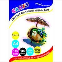 Gami's 115gsm Self-Adhesive Inkjet Photo Glossy Sticker