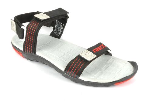 Black & Red Mens Sandal