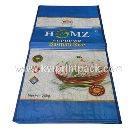 Bopp Laminated PP Rice Bags