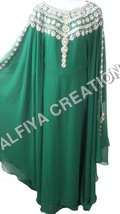 Hand beaded crystal work jalabiya farasha kaftan