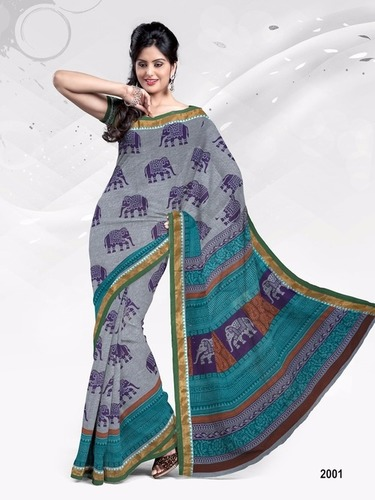 Arohi Cotton Printed Sarees