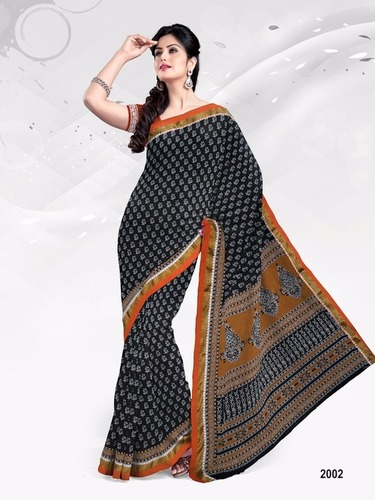 Mahalaxmi Cotton Printed Sarees Wholesale Rate