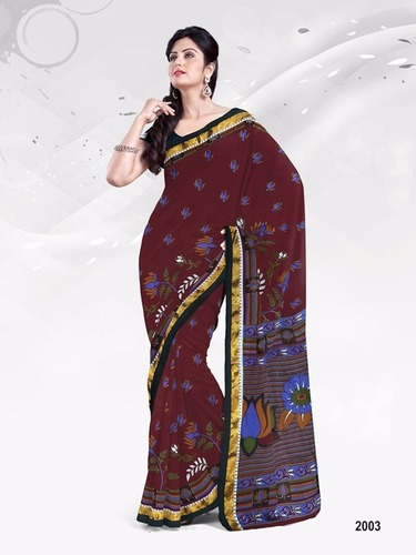 Latest Designer Cotton Printed Sarees Online