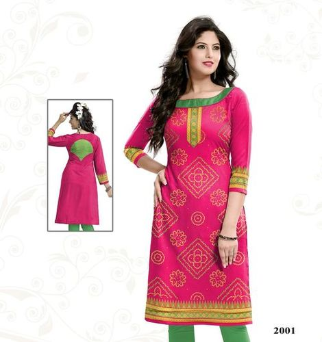 Satin Cotton Unstitched Kurti Materials Online