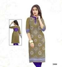 Wholesale Satin Cotton Kurti Materials Jetpur