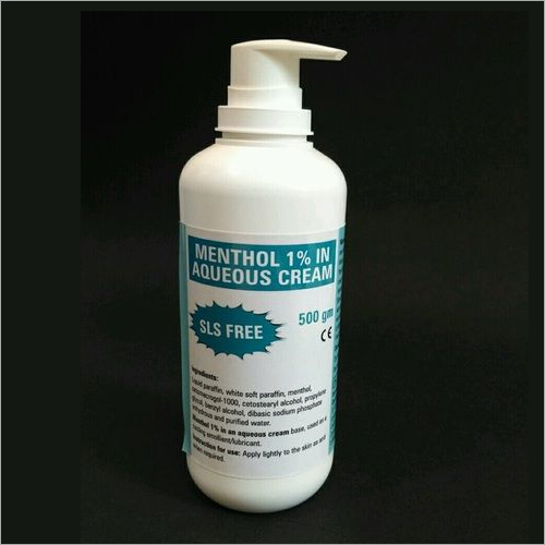 Menthol 1% In Aqueous Cream, SLS Free