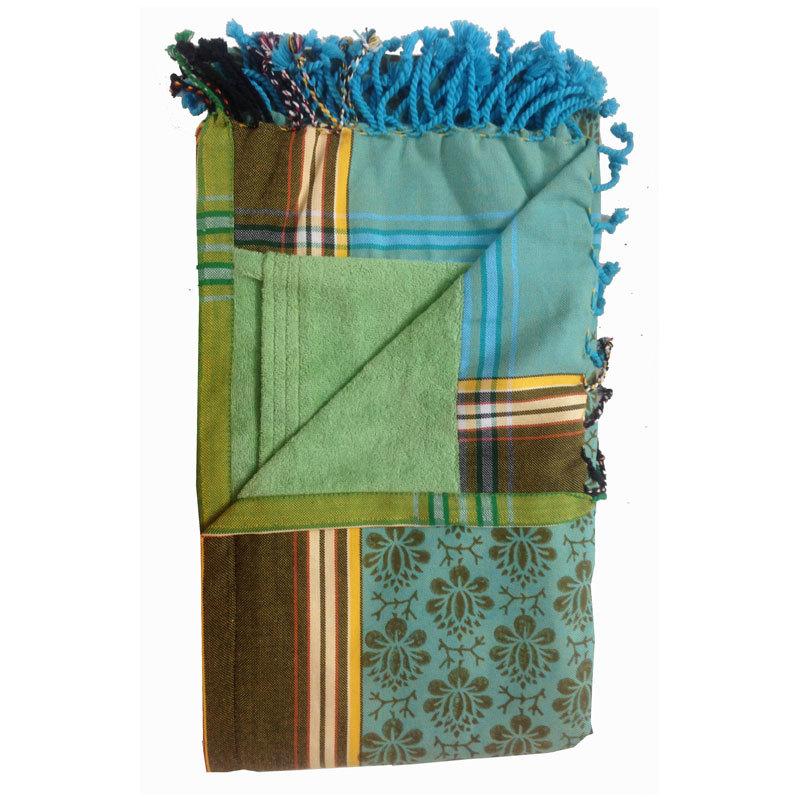 Kikoy block print  towel