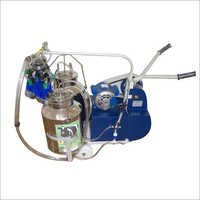 Electric motor operated double bucket milking machine
