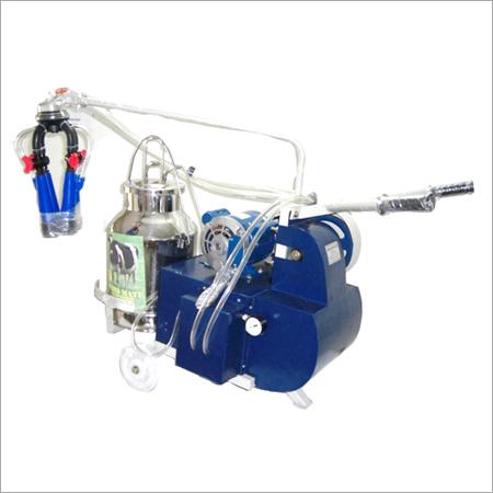 Electric motor operated single bucket milking machine