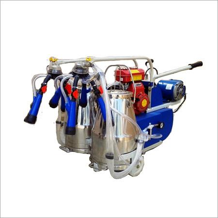 Portable Motorised cum kerosene petrol engine operated milking machine
