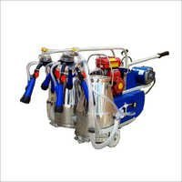 Portable Motorised cum kerosene petrol engine operated milking machine