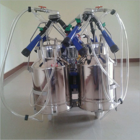 Kerosene Petrol engine operated double bucket milking machine