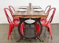 INDUSTRIAL DINING TABLE WITH CHAIR