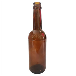 Amber Long Neck Beer Bottle