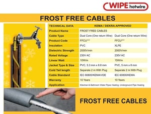 Frost Free Heating Cables
