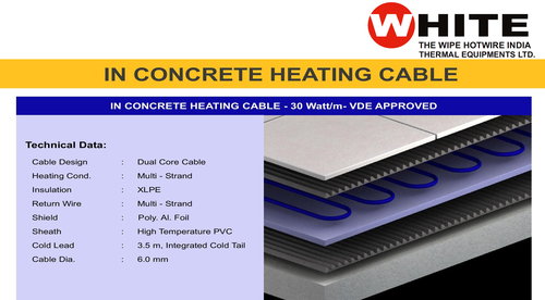 In concrete Heating Cables (30W/m)