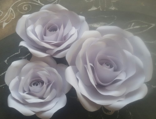 Ivory paper Rose flowers