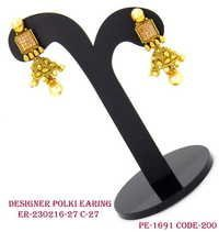 Polki Earring, Jhumka , Antique jhumka,
