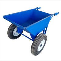 Metal Double Wheeled Wheelbarrow