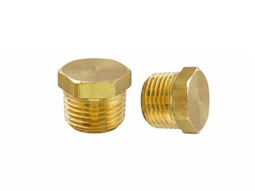 Brass Hex Stop Plug