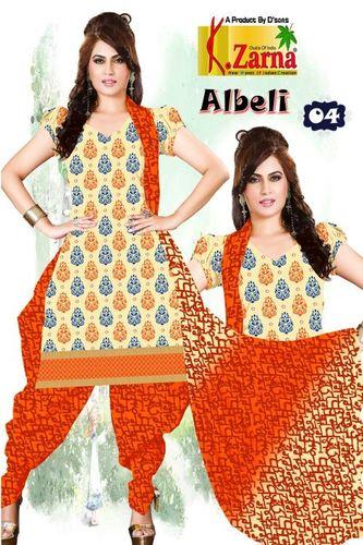 Top Salvar Cotton Print Dupta