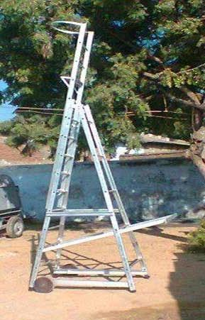 Aluminum Economical Wheeled Tower Ladder