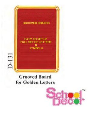 Grooved Board for Golden Letters