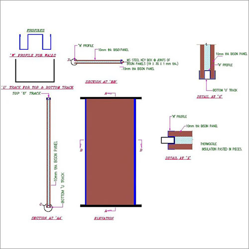 Prefab Wall Partition Schematic