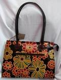 Printed Leather Shoulder Bag