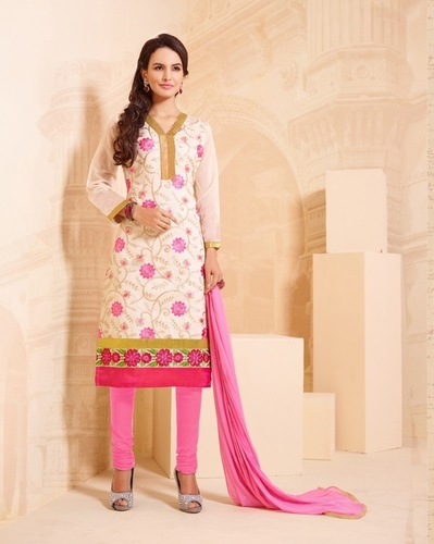 White Embroidered Salwar Suit