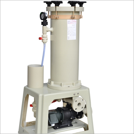 Chemical Filter With Mechanical Pump