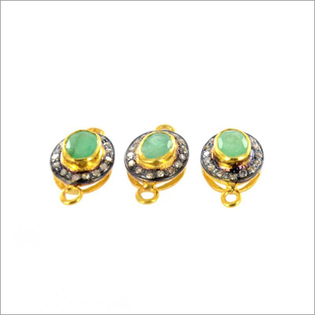 Emerald Diamond Connector Gold Plated