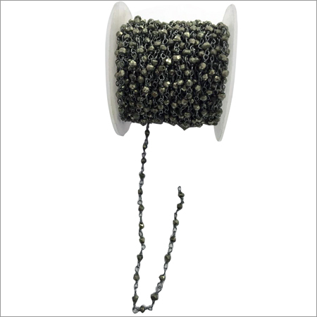 Pyrite Chain Black Plated