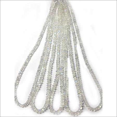 Rainbow Moonstone Roundel Beads