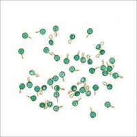 Silver Bezel Green Onyx Gemstones