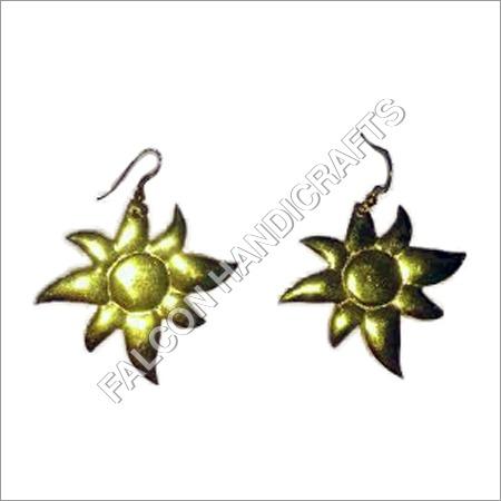 Brass Gold Earring