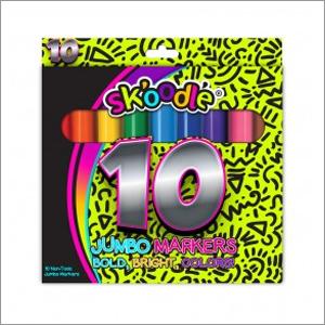 10 Count Jumbo Washable Markers