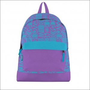 Aztec Print Canvas Bookbag Blue Purple