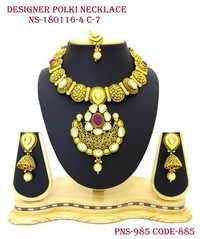 Polki Antique Necklace with Kundan