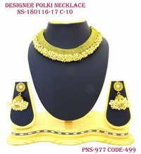 Designer Polki Pearl Necklace