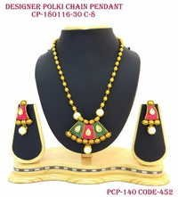 Polki Designer Chain Pendant