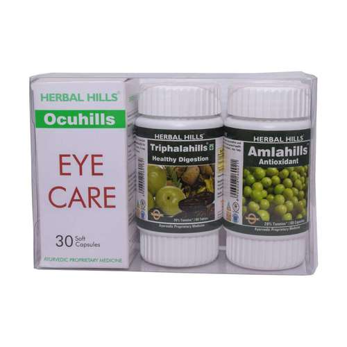 Ayurvedic Medicine for Eyesight Improvement - Ocuhills Combination Pack