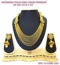 Side Polki Designer Chain Pendant